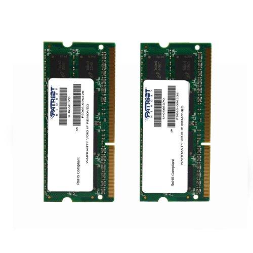 Patriot Mac Series 8GB Apple SODIMM Kit (2X4GB) DDR3 1333 PC3 10600 204-Pin SO-DIMM PSA38G1333SK by Patriot
