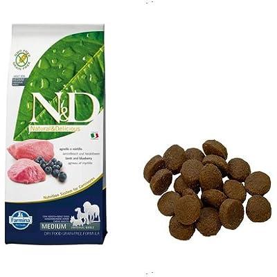 Farmina Natural And Delicious Grain-Free Formula Dry Dog Food, 26.5-Pound, Lamb