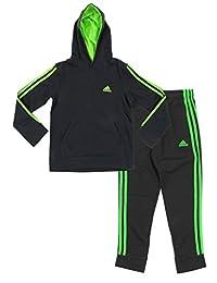 Adidas Youth Big Boys Game Time Hoodie And Pants Set, Color Options