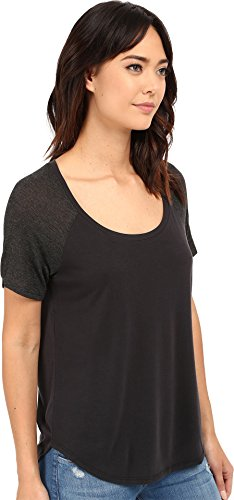 Splendid Sandwash Jersey-Camiseta sin mangas Mujer Multicoloured (Black/Charcoal)