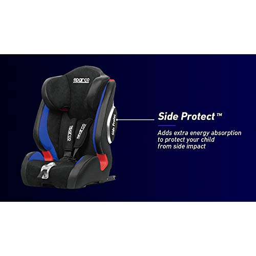 Sparco Kindersitz F1000KI Schwarz//Grau 9 bis 36 kg E4-R44 Isofix 9 Monate bis 12 Jahr