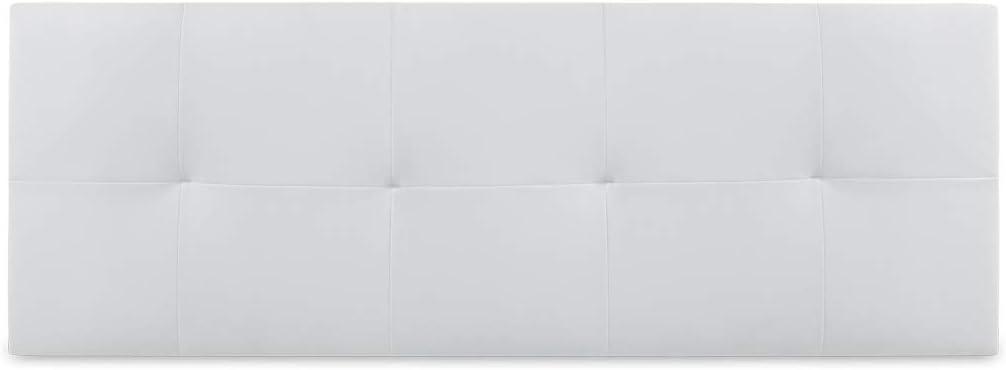 Dormidan- Cabecero Venecia en Polipiel con Acolchado capitoné, 105x52cm (Cama 80, Blanco) …