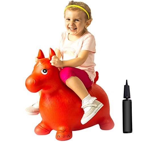 NDN LINE Bouncy Animal, Bouncy Horse Inflatable with Pump by NDN LINE