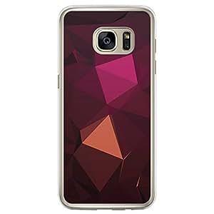 Loud Universe Samsung Galaxy S7 Edge Geomaterical Files A Geo 24 Transparent Edge Case - Multi Color