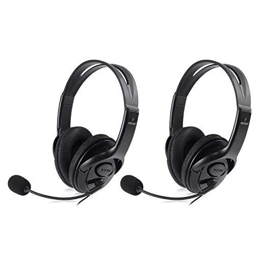 Insten [2 Pack] Gaming Headset Chat Headphone with Mic Microphone for Xbox 360 Live Wireless Controller, Black