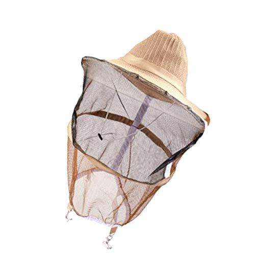 Friendly Multi-function Bee Hat Beekeeping Mesh Net Head Face Protector Cap Outdoor Camping Mosquito Bee Insect Veil Net Hat Beekeeping Tools