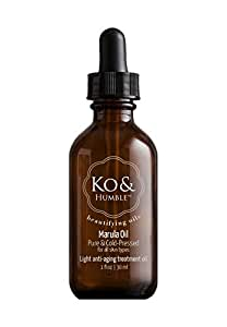 Organic Marula Oil from Ko & Humble Beautifying Oils, Pure & Cold-Pressed, Rich in Antioxidants, Responsibly Sourced & Natural, 1 Ounce [30 ml]
