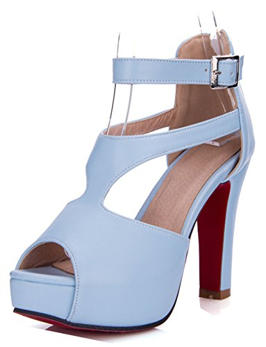 Femme Mode Peep Zip Toe Plateforme D Aisun FTwaT