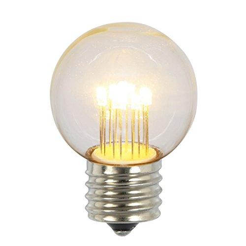 Vickerman XLED2651 G50 Led Transparent E26 Glass Bulb In 5/Box, 9W, 019Amp 9 Diodes & 120V, Warm - 9w Glass