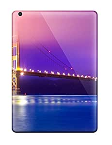 Ipad Tpu Case Skin Protector For Ipad Air Golden Gate Bridge With Nice Appearance
