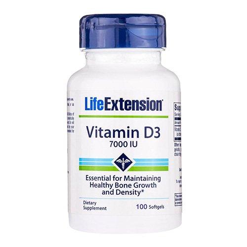 Life Extension Vitamin D3 7000 IU Softgels, 100 Count