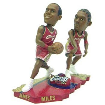 Cleveland Cavaliers James &マイルForever Collectibles Bobble Mates