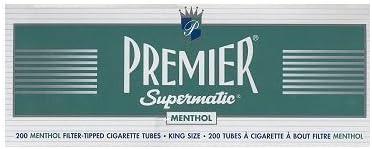 Premier Supermatic King Size Menthol Cigarette