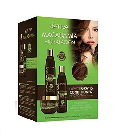 Tratamiento Hidratación Macadamia - Champú 250 ml, Acondicionador 250 ml y Mascarilla 250 ml -