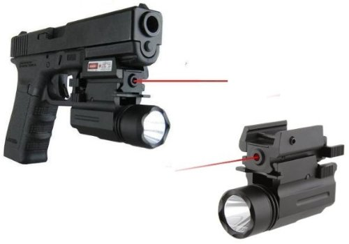 Ultimate Arms Gear New Gen. Tactical Compact QD LED Flashlight Light & Red Dot Laser Sight With Pressure Activation Switch Combo For HK Heckler & Koch H&K HK45 P30 P30L P2000 Pistol Gun With A Front Weaver Picatinny Rail