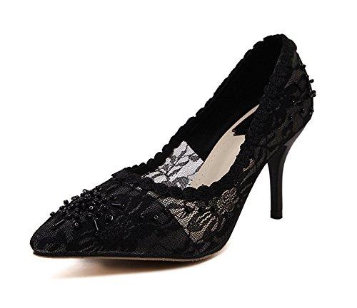 1to9mmsg00203 - Sandales Compensées Pour Femmes, Noir (noir), 35 Eu