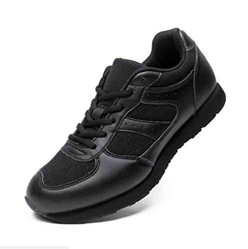 Scarpe da passeggio in gomma da uomo in autunno e in inverno scarpe sportive traspiranti antiscivolo antiscivolo per campeggio in arrampicata in trekking , black , 42