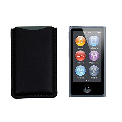 Lucrin - iPod Nano Pouch - Black - Smooth - Pouch Ipod Nano