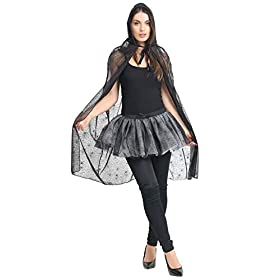 - 41wskSULfAL - MA ONLINE Ladies Halloween Spider Web Costume Womens Night Out Fancy Dress Party Outfit