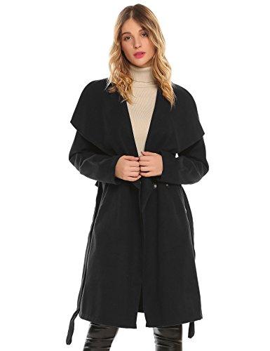 juniors black dress coat - 8