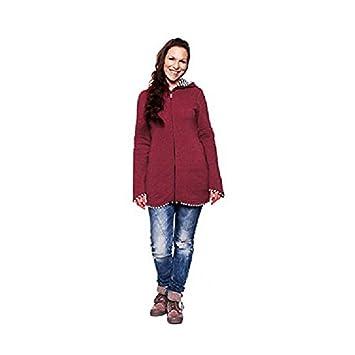 pannow maternidad de mujeres polar cálido forro polar sudadera con capucha canguro sudadera con capucha chaqueta multifuncional para portabebés, ...