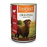 Instinct Original Grain Free Real Beef Recipe Natural Wet Canned Dog Food by Nature's Variety, 13.2 oz. Cans (Case of 6)