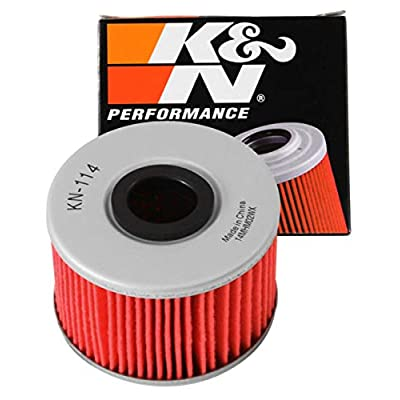 K&N Motorcycle Oil Filter: High Performance, Premium, Designed to be used with Synthetic or Conventional Oils: Fits Select Honda Vehicles, KN-114: Automotive
