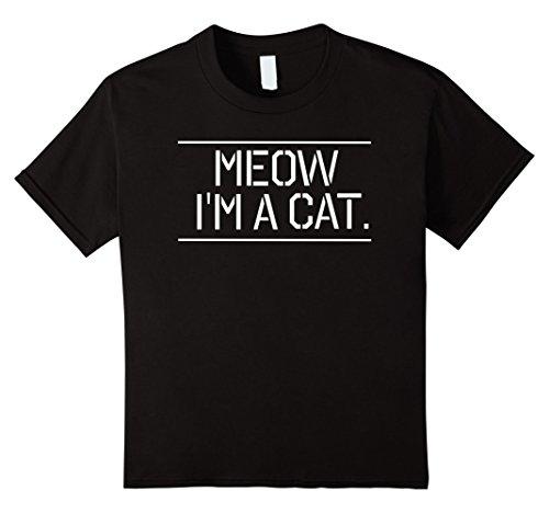 Grumpy Cat Costume Amazon (Kids Meow I'm A Cat T Shirt Tee Happy Halloween Costume Cat Meow 12 Black)