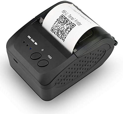 Lancei Belegdrucker Mini Bluetooth Thermodrucker mit Kabellosem Empfang, Tragbarer 58MM POS Drucker für Einzelhandel Restaurantverkauf