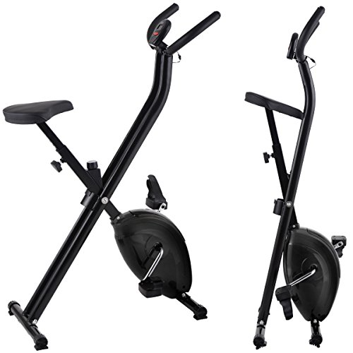 Folding Exercise Bike Home Magnetic Trainer Fitness Stationary Machine New - Black by Eight24hours (Image #6)'