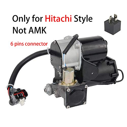Air Suspension Compressor Pump with Relay Fit for Land Rover Discovery 3 04-09 / Range Rover Sport 05-09 LR023964 LR015303 HITACHI style (6 pins connector) Not AMK version