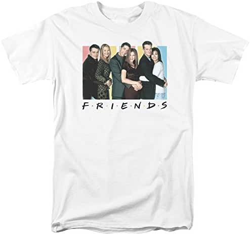 Friends Sitcom TV Series Cast Logo Officially Licensed Adult Men's T-Shirt White