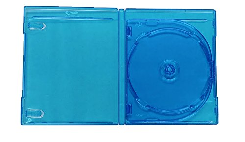 AmeriCopy 12mm (3 Disc) Triple Blu Ray Case with Silver Printing Logo (5 Pieces)
