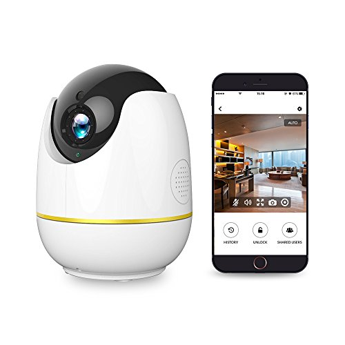 Home Security Camera, Compatible with Alexa Echo Show,Netvue 1080P Wireless IP Camera with Motion Detection P/T/Z,TF Card Record,2 Way Audio and Night Vision, Baby Monitor by NETVUE