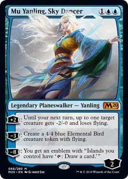 Core Set 2020 M20 Magic MTG CELESTIAL WIND FOIL MU YANLING PLANESWALKER DECK
