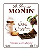 Monin Flavored Syrup, Dark Chocolate, 33.8-Ounce Plastic Bottle ( 1 liter)