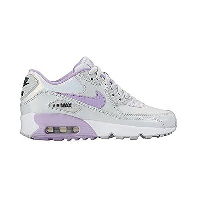 premium selection ce088 7a49d Nike Kid s Air Max 90 SE LTR GS, Pure Platinum   Urban Lilac