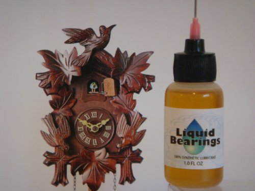 "Liquid Bearings with Extra-Long 3 "" needle tip, the superior 100%-synthetic oil for Cuckoo clocks or any clocks, frees sticky or rusty mechanisms, never becomes gummy, the BEST for clocks of all (Chelsea Ships Clock)"