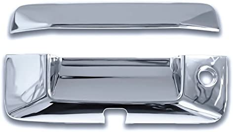 For Chevy SILVERADO 2014 2015 2016 Chrome Tailgate Cover WITH Keyhole+Camera