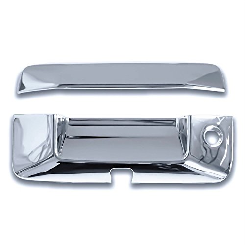 Cobra-Tek Chrome Tailgate Handle Cover w/ Keyhole & Camera cutout Fits Chevy GMC 2014-2016 Silverado Sierra 2015-2016 Colorado Canyon UFRAME