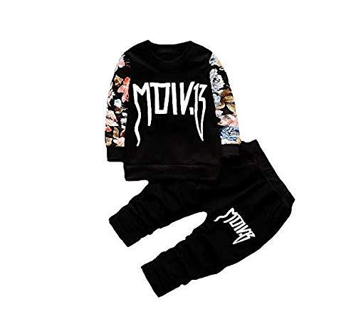 Googo Gaaga Boys Full Sleeves Cotton Black Sweatshirt with Pant