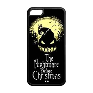 LJF phone case LeonardCustom Protective Hard Rubber Coated Cover Case for iphone 6 4.7 inch, Nightmare Before Christmas Jack & Sally -LCI5CU112