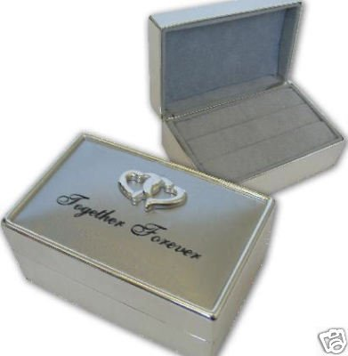 Personalised Double Wedding Ring Box Engraved Gift Amazoncouk
