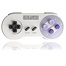 SNES30 Gamepad, YIKESHU 8Bitdo Controller work with Nintendo Switch, Wireless Bluetooth Controller Classic Nintendo Gamepad Joystick for Mac Android and Windows devices