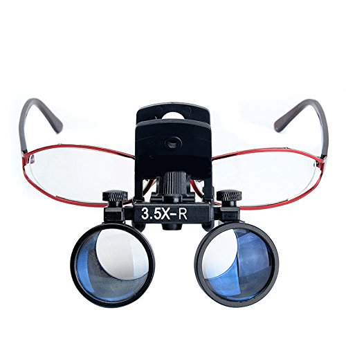 Zgood Dental Binocular Loupes Surgical Glasses Magnifier Clip on Style DY-110 3.5X-R by ZGood (Image #2)