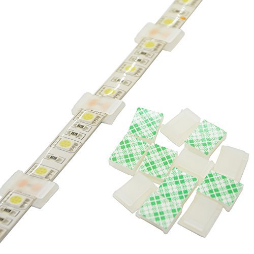 - Strip Light Mounting Clips Self-Adhesive Strip Brackets Holder,100-Pack Clamps Fix Light Strip 8mm 10mm 12mm (for 10mm(3/8