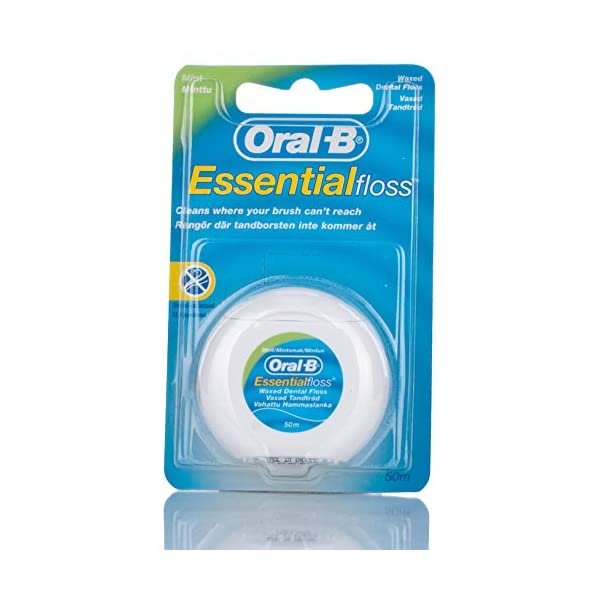 Oral-B Essential - Hilo de menta encerado, 50 m, 6 unidades. 1