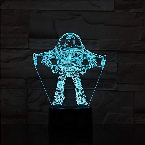 Luz De Ilusión 3D Luz De Noche Led Cartoon Toy Story Buzz Año Nuevo Sheriff Woody Decoración Para El Hogar Kid Kids Gift…
