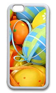 MOKSHOP Adorable Easter Egg Decorations Soft Case Protective Shell Cell Phone Cover For Apple Iphone 6 Plus (5.5 Inch) - TPU White