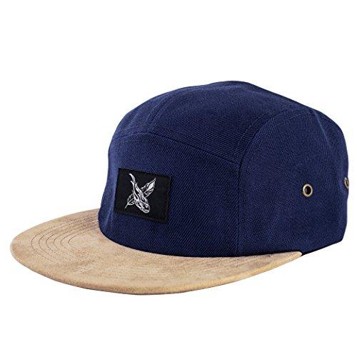 Phoenix Port Royale 5-Panel Cap Navy Blue Unisex Baseball Hat (Suede Woven Hat)